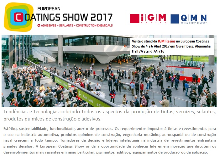 Quiminutri Igm Resins Na European Coatings Show 2017